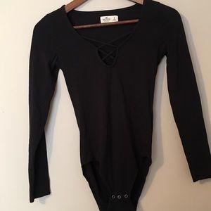 Black Hollister Bodysuit